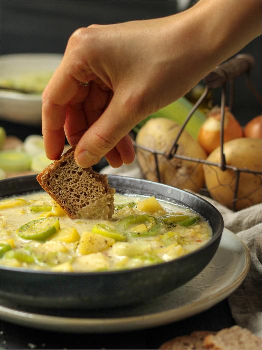 Kartoffel-Lauch-Supe vegan